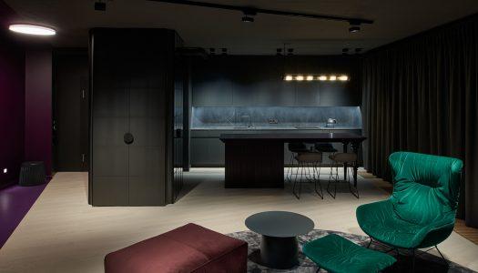 Apartament w czerni